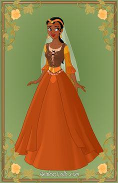 Tiana { Brown Dress } by ~kawaiibrit Disney Nerd, Disney Fan Art, Cute Disney, Disney Style, Tiana And Naveen, Disney Princess Tiana, Frog Princess, Disney Dresses, Disney Outfits