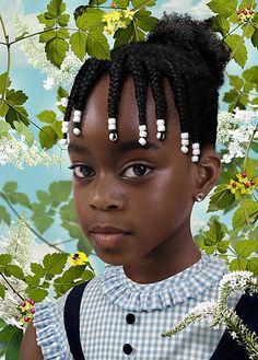 Girl with beaded braids - Ruud van Empel artwork