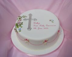 first holy communion cake - Google Search