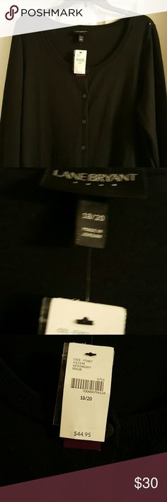 Lane Bryant black cardigan Great sweater to throw over a dress or wear over a top with jeans. Lane Bryant Sweaters Cardigans