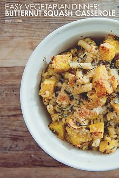 The perfect fall side or main dish: butternut squash casserole. #Casserole