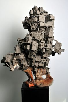 Dutch artist Pim Palsgraaf is concerned with the relationship of the urban environment to the natural environment, the man-made versus the naturally occurring. World Of Interiors, Contemporary Sculpture, Contemporary Art, Sculpture Ornementale, Architectural Sculpture, Dutch Artists, Japanese Artists, Magazine Art, Installation Art