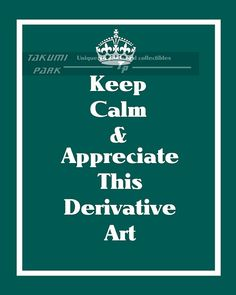 Keep calm and carry on funny wall art. By Takumi park. $15.88