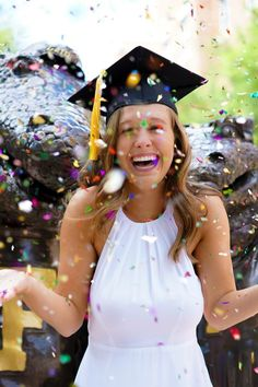 Grad ceremony picture idea for your graduation announcement.