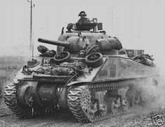 Sherman M4A2, notice how the Driver and Radio Operators' forward compartments have square buldges in the front hull
