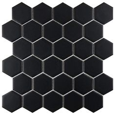 Merola Tile Metro Hex 2 in. Matte Black 10-1/2 in. x 11 in. Porcelain Mosaic Floor and Wall Tile (8.02 sq. ft. / case)-FXLM2HMB at The Home ...