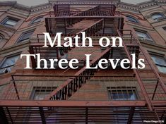 Great ideas for backwards math learning on multiple levels, with fun videos, too