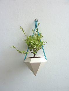 Diamond Hanging Planter by Raw Dezign on Etsy