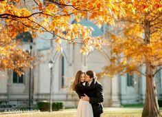 Fall engagement photos heinz chapel   Pittsburgh Wedding Photographers   Aaron Varga Photography