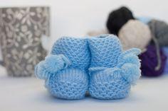 Baby Wool Boots - Blue  https://www.facebook.com/flocosdela