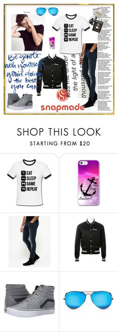 """Snapmade3/5"" by fatimazbanic ❤ liked on Polyvore featuring Superdry, AMIRI, Vans, Ray-Ban, Assouline Publishing, men's fashion and menswear"