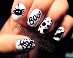 Wishing i could do my nails again! but i have work... But here are 25 cute halloween ideas for your nails!