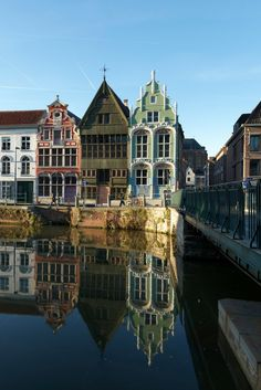 Mechelen, an artistic pitoresque city in Flanders, Belgium. lovely sky, reflection on the water, a picture of the Haverwerf by (c) Milo Profi
