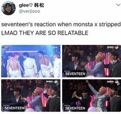 Seventeen and Monsta X friendship