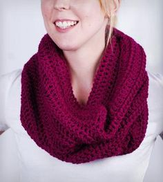 Berry Slouchy Cowl Scarf