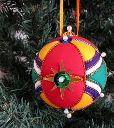 One of a Kind Kimekomi Ornament by OrnamentDesigns on Etsy