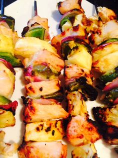 21 Day Fix Pineapple Chicken Skewers