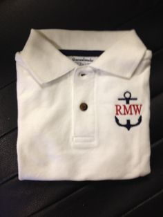 boy monogram polo - Google Search