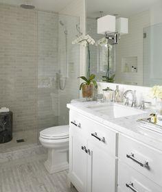 Small bath design ideas modern white small bathroom design idea small bathroom remodel ideas window in Bathroom Tile Designs, Modern Bathroom Design, Bath Design, Bathroom Ideas, Bathroom Interior, Bathroom Vanities, Bath Ideas, Bathroom Remodeling, Bathroom Layout