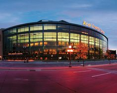 The Xcel Energy Center has been home to the NHL's Minnesota Wild and the Minnesota Swarm of the National Lacrosse League since Located. Minnesota Wild Hockey, Minnesota Home, Great Places, Places To See, Minneapolis St Paul, Minneapolis Minnesota, Twin Cities, North America, Sands