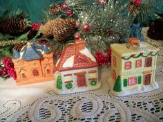 "I added ""Village House Ornaments "" to an #inlinkz linkup!http://www.ebay.com/itm/161452426302?ssPageName=STRK:MESELX:IT&_trksid=p3984.m1586.l2649"