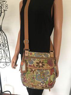 Fossil Bag Messenger Crossbody Floral Designer Fashion Hip Boho Trendy #Fossil #MessengerCrossBody
