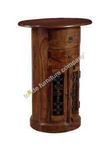 Living Room Furniture Sheesham Oval Drum Chest J18 Ebay