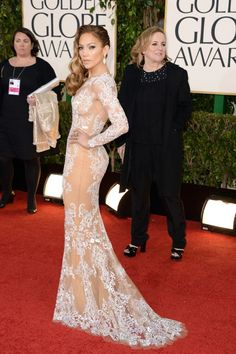 Jennifer Lopez in Zuhair Murad at the Golden Globes 2013