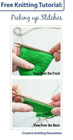 How to pick up stitches