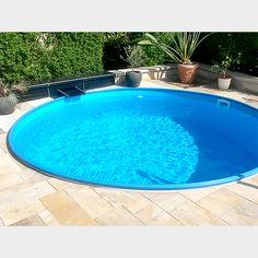 Den Schwimmingpool einfach selbst aufbauen und dann ins kühle Nass springen. #rundpool #pool