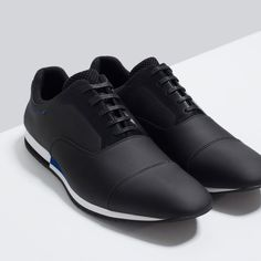 Image 5 of CASUAL CONTRAST LACE-UPS SHOES from Zara