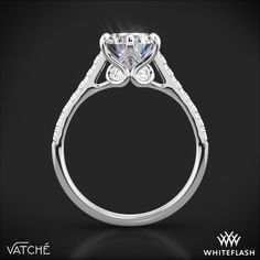 Vatche Swan French Pave Diamond Engagement Ring | 2821