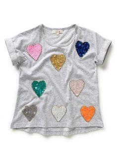 Girls Tops Tees & Shirts | Coloured Heart Tee | Seed Heritage