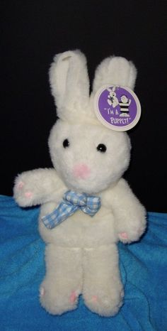 "New With Tags Full-Bodied Bunny Rabbit Puppet 20"" Stuffed Animal Plushie #InternationalSilverCompany"