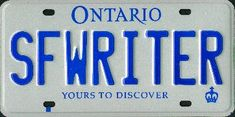 License plate of one of my favorite authors  Robert J Sawyer