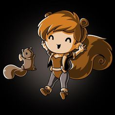 She's a human and also a squirrel! Get the Squirrel Girl! t-shirt only at TeeTurtle! Nerdy Shirts, Cute Tshirts, Squirrel Girl Marvel, Unbeatable Squirrel Girl, Kawaii, Gamer Gifts, Forest Friends, Marvel Comics, Marvel Fan