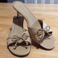 Open Toe & Heel Shoe Open Toe Heel & Sandal Shoe.  Nearly New. With Bow on Top Shoes Heels