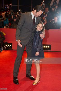 Actors Hugh Jackman and Dafne Keen attend the 'Logan' premiere during the 67th Berlinale International Film Festival Berlin at Berlinale Palace on February 17, 2017 in Berlin, Germany.