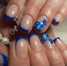 Красивые ногти. Уроки дизайна ногтей | VK - #VK #дизайна #Красивые #ногтей #Ногти #Уроки Colorful Nail Designs, Toe Nail Designs, Butterfly Nail Art, Sassy Nails, Spring Nail Art, Neutral Nails, French Tip Nails, Square Nails, Bling Nails