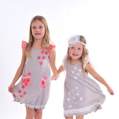 Girl  dress  Linen flower girl dress   Weddings by SnowwhiteLinen, $49.00