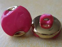 11 kleine KNÖPFE pink 12mm  (5178-3) Blusenknöpfe