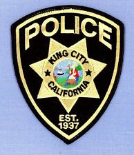 KING CITY CALIFORNIA CA Sheriff Police Patch STATE SEAL