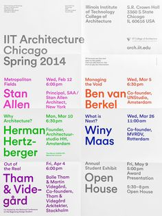 IIT Architecture Chicago Spring 2014 poster