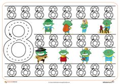 Free handwriting pages for writing numbers Free Handwriting, Writing Numbers, Classroom Crafts, Tot School, Teaching Math, Kids Learning, Worksheets, Kindergarten, Preschool