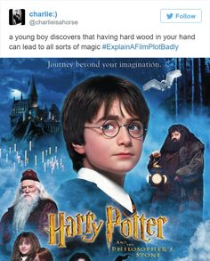 movie ticket 35 Times Explaining a Movie Plot Badly Was the Best Thing Ever Harry Potter Jokes, Harry Potter Fandom, Movie Plots Explained Badly, Explain A Film Plot Badly, Funny Movies, Fantastic Beasts, Tumblr Funny, Funny Posts, Hilarious