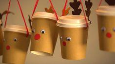 Toller Adventskalender für Jungs und Mädchen zum Selberbasteln: Sie brauchen nur diese Bastelanleitung, Kaffeebecher und Wäscheklammern - und natürlich ein paar Überraschungen!