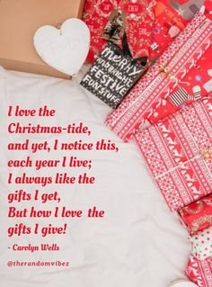 """""""I love the Christmas-tide, and yet, I notice this, each year I live; I always like the gifts I get, but how I love the gifts I give!"""" - Carolyn Wells #Christmasquotes #Merrychristmasquotes #Shortchristmasquotes #2020Christmasquotes #Merrychristmas2020quotes #Christmasgreetings #Inspirationalchristmasquotes #Cutechristmasquotes #Christmasquotesforfriends #Warmchristmaswish #Bestchristmasquote #Christmaswishesforfamily #Christmascaptions #Festivechristmasquote #Merrychristmasimage… Funny Merry Christmas Memes, Short Christmas Quotes, Christmas Captions, Merry Christmas Images, Hallmark Christmas Movies, Christmas Music, Christmas Greeting Cards, Christmas Greetings, Christmas Wishes For Family"""