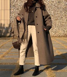 winter outfits korean Trendy dress winter outfit h - winteroutfits Ulzzang Fashion, Asian Fashion, Look Fashion, Trendy Fashion, Winter Fashion, Fashion Outfits, Korean Fashion Winter, Fashion Mode, Fasion