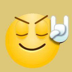 emojis rock on gif Animated Smiley Faces, Animated Emoticons, Emoticon Faces, Funny Emoticons, Funny Emoji, Smileys, Star Emoji, Smiley Emoji, Emoji Pictures