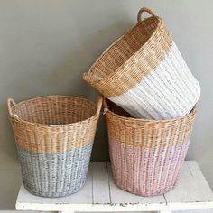 Painted baskets